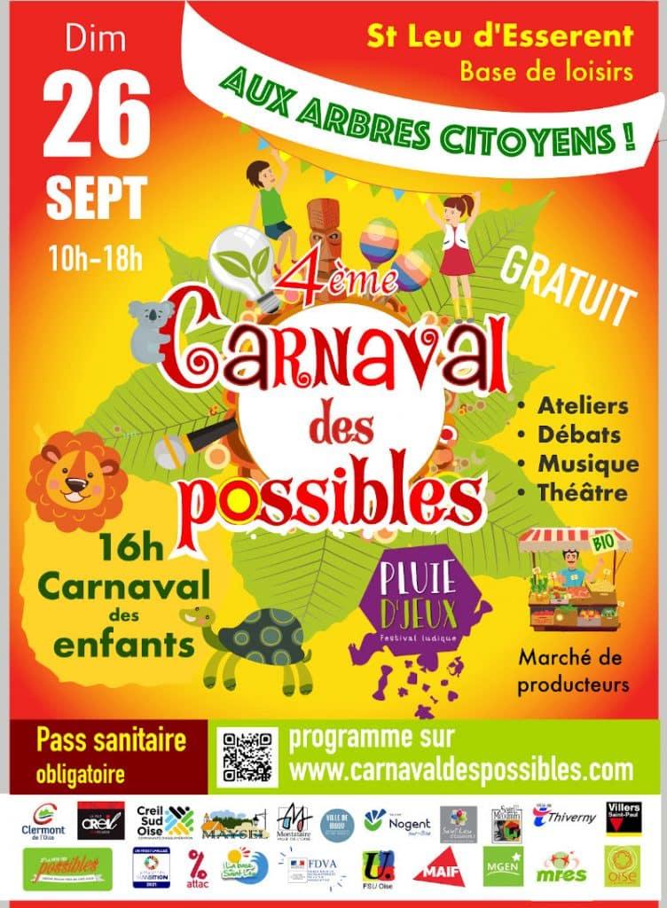 Carnaval des possibles St leu d'Esserent Dimanche 26 septembre 2021 10h-18h